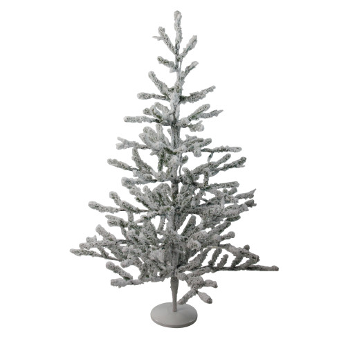 """36"""" Green Flocked Alpine Coral Artificial Christmas Tree - Unlit - IMAGE 1"""