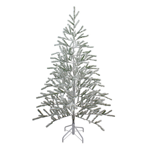 5' Flocked Alpine Twig Artificial Christmas Tree - Unlit - IMAGE 1