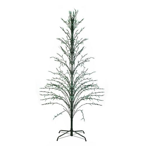 4' Pre-Lit Green Slim Profile Cascade Twig Christmas Tree - Green Lights - IMAGE 1