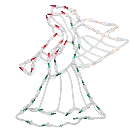 "18"" Lighted Trumpeting Angel Christmas Window Silhouette Decoration - IMAGE 1"