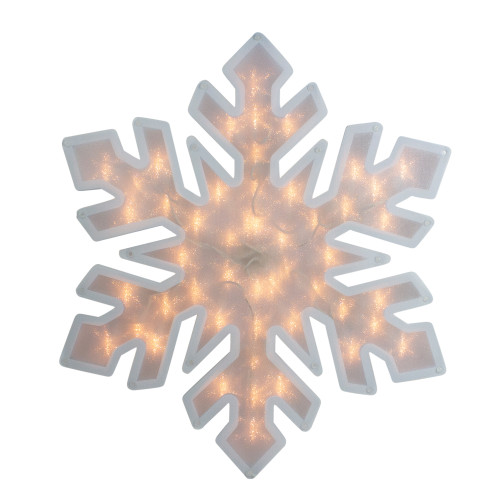 "20"" Lighted Snowflake Christmas Window Silhouette Decor - IMAGE 1"