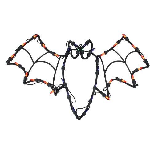"15"" Lighted Bat Halloween Window Silhouette Decoration - IMAGE 1"