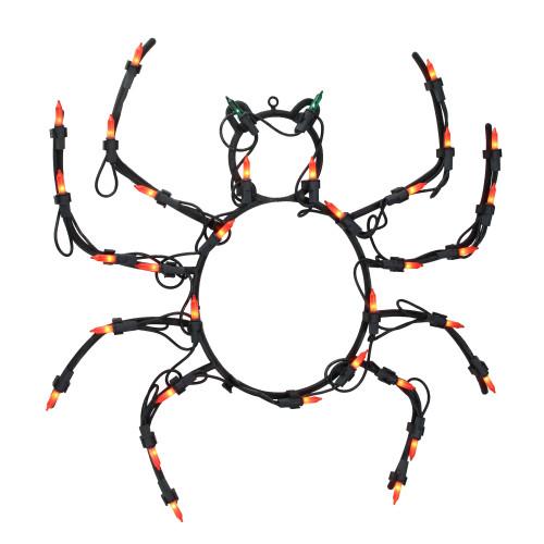 "15"" Lighted Spider Halloween Window Silhouette Decoration - IMAGE 1"