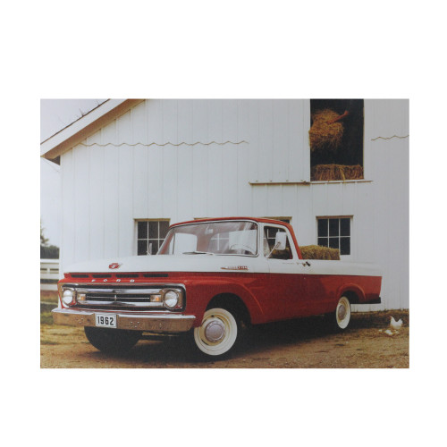 """LED Lighted 1962 Ford F-100 Truck Canvas Wall Art 12"""" x 15.75"""" - IMAGE 1"""