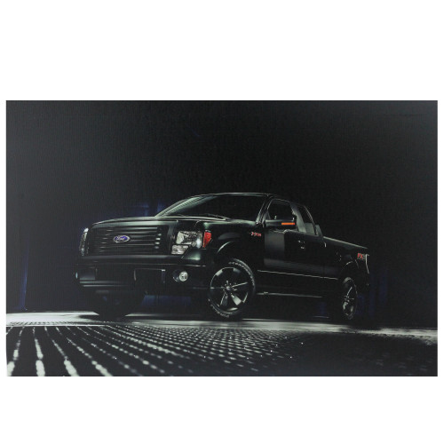 """Black Ford F150 FX2 Sport LED Lighted Canvas Wall Art 23.5"""" x 15.5"""" - IMAGE 1"""