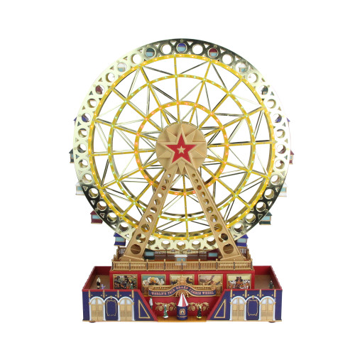 "15"" Mr Christmas Animated Musical LED Lighted World's Fair Grand Ferris Wheel Decoration #79795 - IMAGE 1"