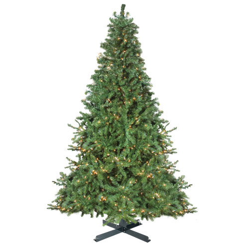 15' Pre-Lit Canadian Pine Commercial Artificial Christmas Tree - Warm White Lights - IMAGE 1