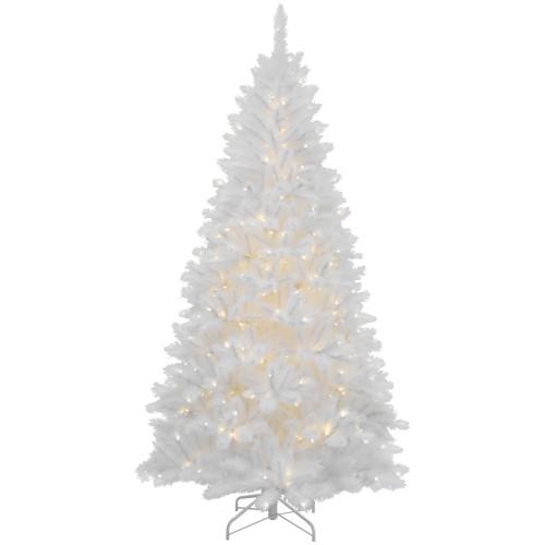 7.5' Pre-Lit Iridescent White Alaskan Pine Artificial Christmas Tree - Clear Lights - IMAGE 1