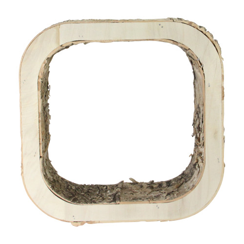 "9.75"" Small Rustic Birch Wood Bark Square Tabletop Decoration - IMAGE 1"
