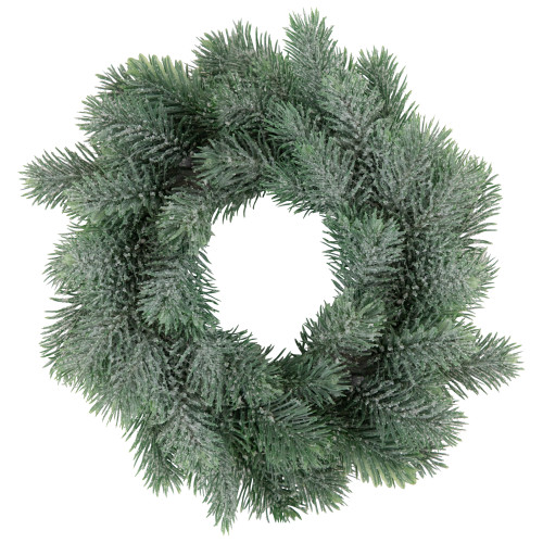 """10"""" Traditional Frosted Green Pine Decorative Christmas Wreath - IMAGE 1"""