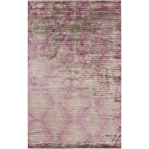 9' x 13' Purple and Gray Contemporary Hand-Knotted Rectangular Area Throw Rug - IMAGE 1