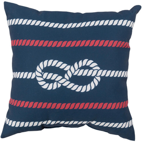 """26"""" Cobalt Blue and Pink Contemporary Square Outdoor Throw Pillow - IMAGE 1"""