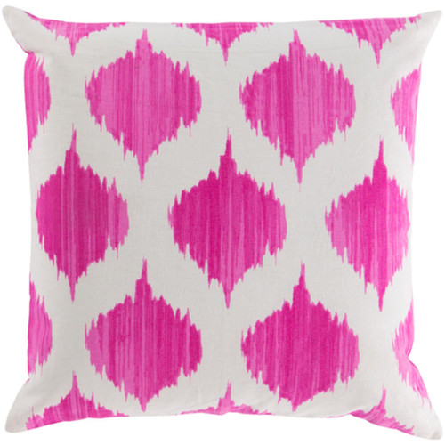"""22"""" Pink and Ivory Diamond Puffs Decorative Throw Pillow Shell - IMAGE 1"""