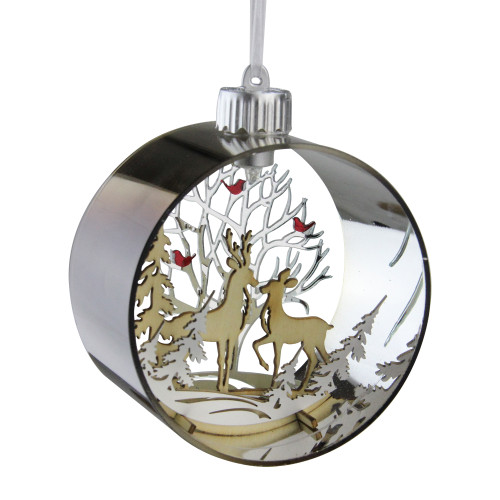 "5"" Woodland Animals Silhouette Prelit Christmas Ornament - IMAGE 1"