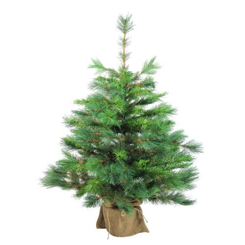 3' Medium Rosemary Spruce Burlap Base Artificial Christmas Tree - Unlit - IMAGE 1