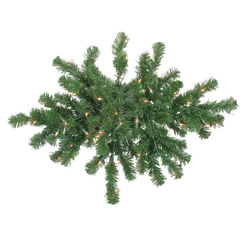 28 Pre-Lit Windsor Pine Artificial Christmas Swag - Clear Lights - IMAGE 1