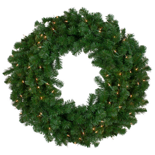 Pre Lit Deluxe Windsor Pine Artificial Christmas Wreath 12 Inch Clear Lights Christmas Central