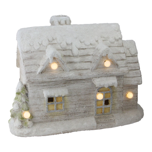 "14.5"" LED Lighted Musical Snowy Cottage Christmas Decor - IMAGE 1"