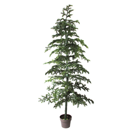 6.5' Potted Green Spruce Artificial Topiary Tree – Unlit - IMAGE 1