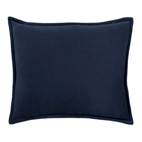 "13"" x 19"" Calma Semplicita Navy Blue Decorative Throw Pillow - Down Filler - IMAGE 1"