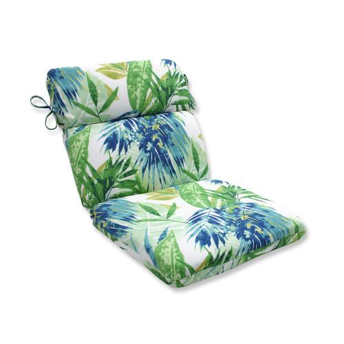 "21"" x 40.5"" Zen Garden Outdoor Rounded Chair Cushion - IMAGE 1"