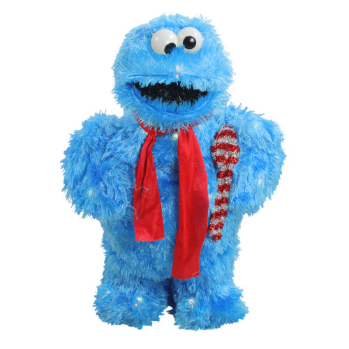"""18"""" Pre-Lit Cookie Monster Sesame Street Christmas Outdoor Decor - Clear Lights - IMAGE 1"""