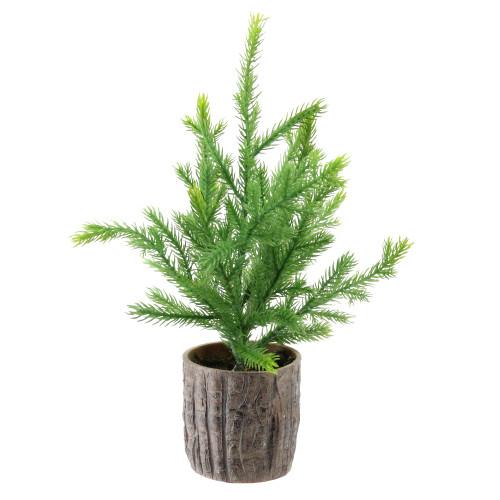 "12"" Potted Medium Artificial Pine Christmas Tree - Unlit - IMAGE 1"