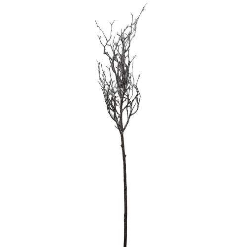 """43"""" Brown and White Frosted Artificial Christmas Poplar Tree Branch - IMAGE 1"""
