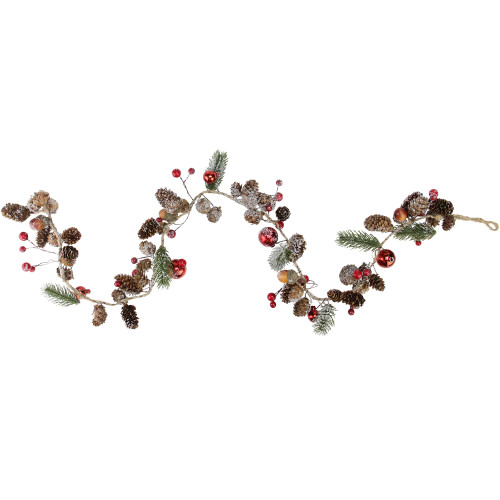"39.5"" Pine Cones and Berries Winter Foliage Christmas Twig Garland - Unlit - IMAGE 1"
