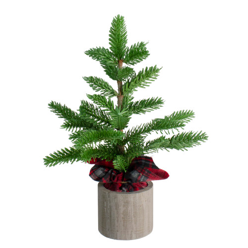 1.3' Potted Pine Medium Artificial Tabletop Christmas Tree - Unlit - IMAGE 1