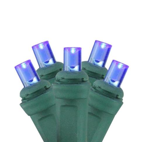 4' x 6' Blue LED Wide Angle Christmas Net Lights - Green Wire - IMAGE 1
