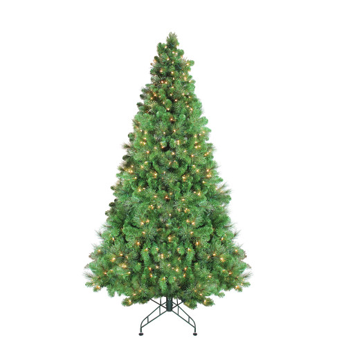 7.5' Pre-Lit Medium Canterbury Spruce with Dewdrops Artificial Christmas Tree - Clear LED Lights - IMAGE 1