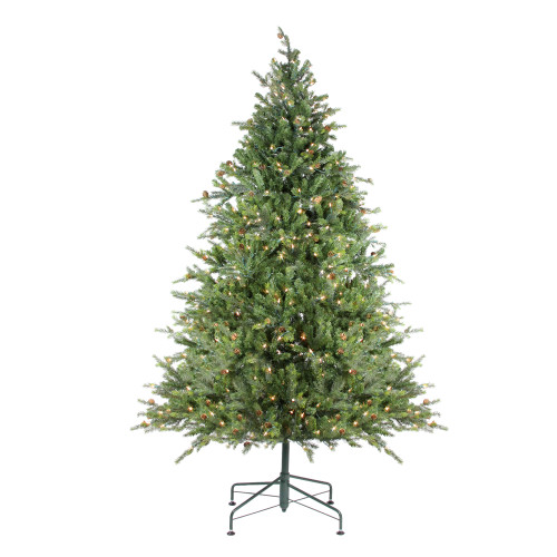 9' Pre-Lit Full Hunter Fir Artificial Christmas Tree - Clear Lights - IMAGE 1