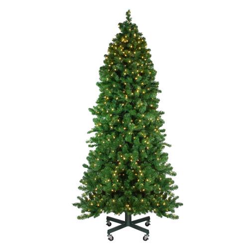 7.5' Pre-Lit Slim Olympia Pine Artificial Christmas Tree - Warm White Lights - IMAGE 1