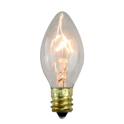 Pack of 25 Incandescent C7 Clear Christmas Replacement Bulbs - IMAGE 1