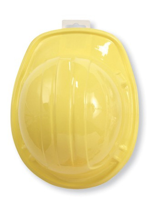 Club Pack of 12 Yellow Child Unisex Under Construction Hard Party Hats - One Size - IMAGE 1