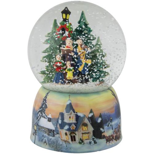 "6"" Musical Christmas Carolers Winter Scene Snow Globe - IMAGE 1"