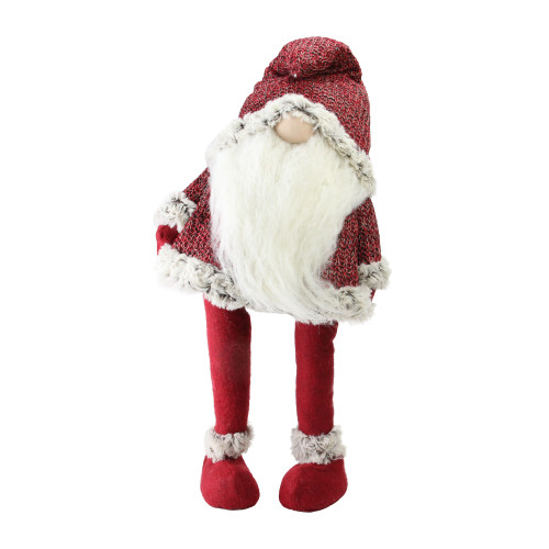 30 Red Standing Christmas Santa Claus Gnome With Gray
