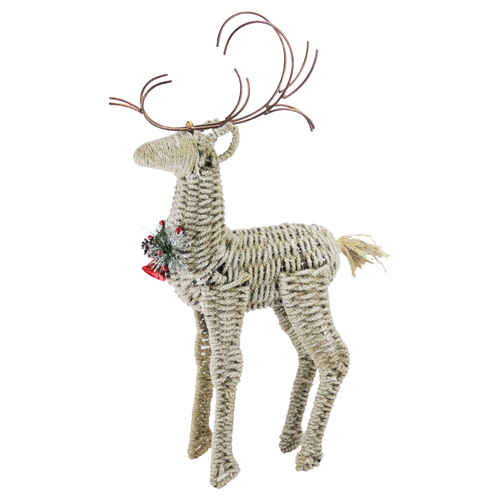 """26"""" Ivory and Brown Reindeer Twine Christmas Decoration - IMAGE 1"""