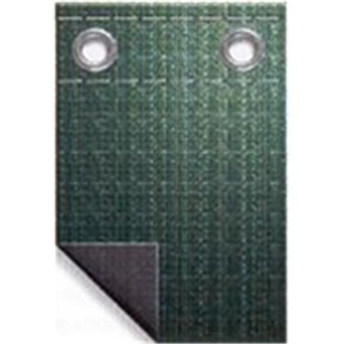 41' Green Supreme Guard Rectangular Right Step End Step Winter Pool Cover - IMAGE 1