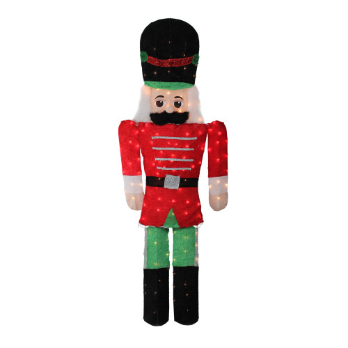 6' Pre-Lit Candy Cane Lane 2-D Toy Soldier Christmas Outdoor Decor - IMAGE 1