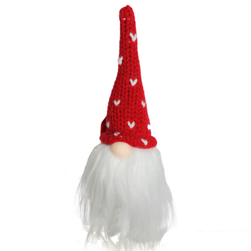 "8"" Red Hat Christmas Santa Gnome Head Ornament - IMAGE 1"
