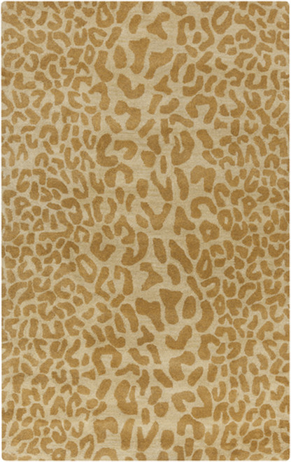 10' x 14' Carmel Brown and Ivory Hand Tufted Wool Area Throw Rug - IMAGE 1