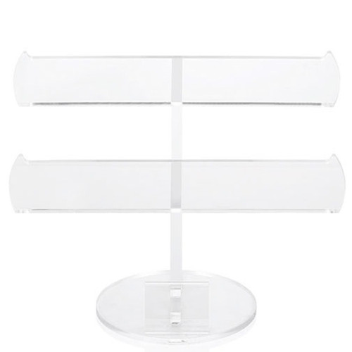 """10.5"""" Clear Display Acrylic Flat Double Bar Display Stand - IMAGE 1"""