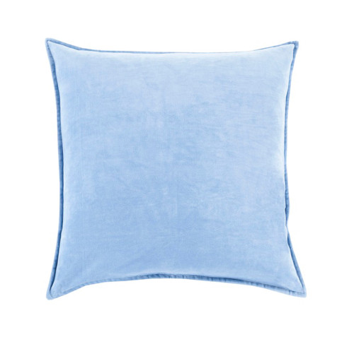 "22"" Shaded Sky Blue Contemporary Woven Decorative Throw Pillow - IMAGE 1"