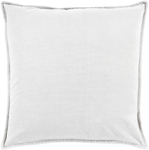 "20"" Solid Light Haze Gray Contemporary Woven Decorative Throw Pillow - IMAGE 1"