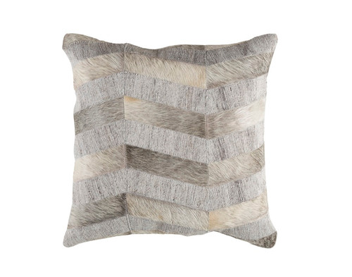"""20"""" Gray and White Rustic Square Throw Pillow - IMAGE 1"""