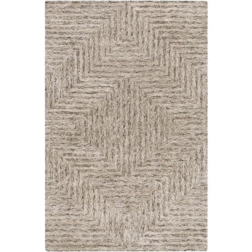6' x 9' Diamond in the Rough Sandy Brown and Light Gray Area Throw Rug - IMAGE 1