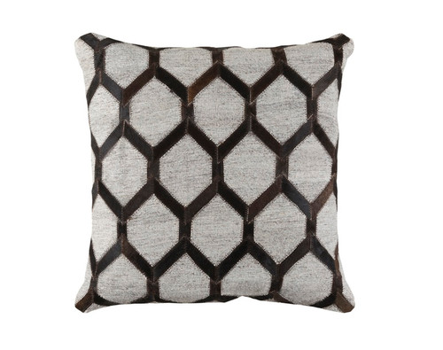 """20"""" Black and Gray Rustic Square Throw Pillow - IMAGE 1"""