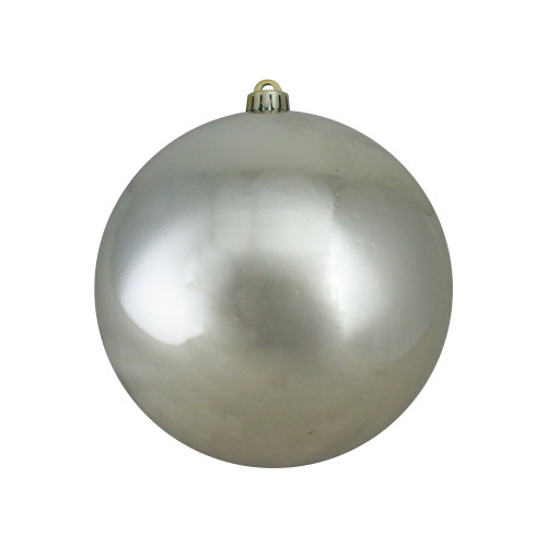 """Shiny Champagne Gold UV Resistant Commercial Shatterproof Christmas Ball Ornament 8"""" (200mm) - IMAGE 1"""